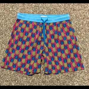 Men's pineapple printed board shorts size small